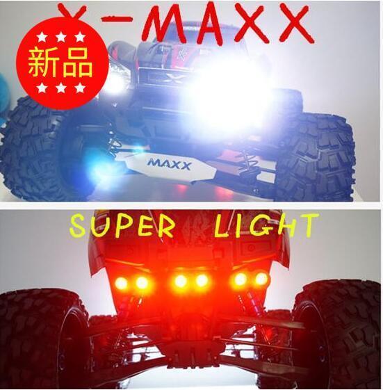 Faros De Led + Luz Trasera conjunto contienen Cabeza Luz Soporte Para Traxxas X-Maxx