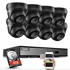 SANNCE 1080P Lite 8CH DVR HD 2MP Security Camera System H.264+ EXIR Night Vision