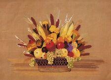 "Vintage Erica Wilson ""Harvest Basket"" Crewel Embroidery Kit Fruit Vegetables"