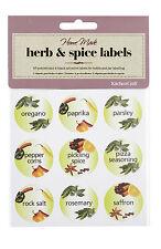 Kitchen Craft Pack of 45 Herb & Spice Bottle Jar Labels KCSPICELAB