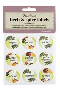 Kitchen-Craft-Pack-of-45-Herb-amp-Spice-Bottle-Jar-Labels-KCSPICELAB