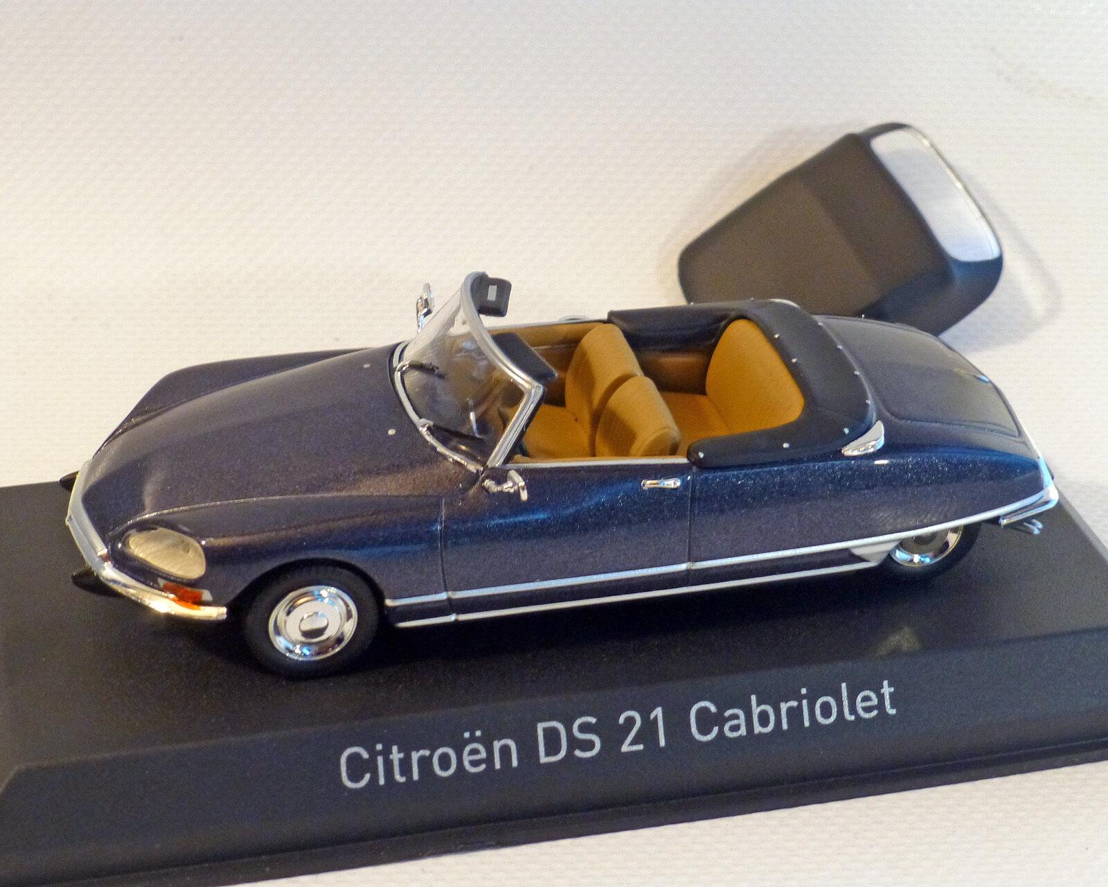 Citroen DS 21 Converdeible, blu Oscuro-Metalico, Norev 1 43