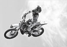 NEW MOTORCROSS POSTER RARE 24X36 COLLECTOR PRINT BLUE