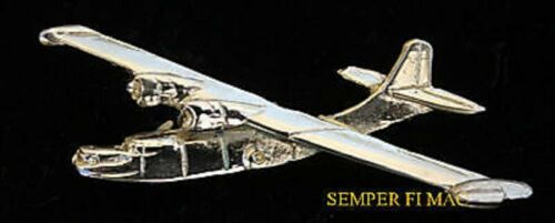 PBY CATALINA GOLD XL LAPEL HAT PIN US MADE IN US NAVY COAST GUARD FLYING BOAT
