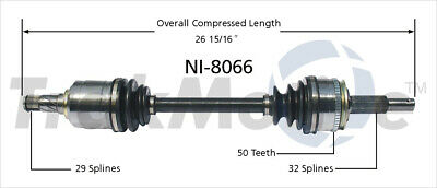CV Axle Shaft Front Left SurTrack NI-8234