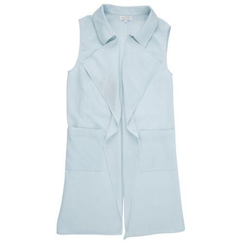 Mud Pie E8 Women/'s Fashion Gray Blue Coco Collared Vest 8513172BL Choose Size