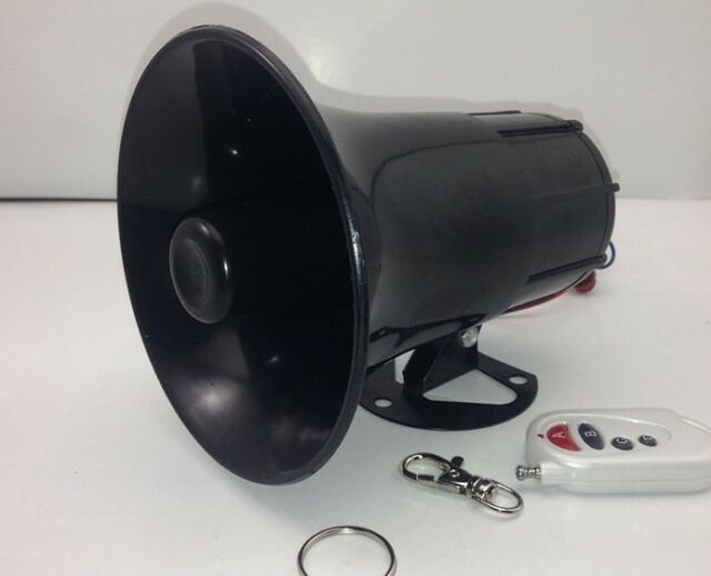 12V Waterproof Motorcycle Truck Horn 3 Sounds Loud With Wireless Remote Control