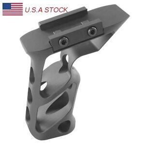 Tactical Foregrip Skeleton Vertical Grip SVG Billet Aluminum 20mm Rail Grip BK