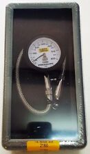 Auto Meter Analog Tire Pressure Gauge with Peak & Hold 0-60 Psi