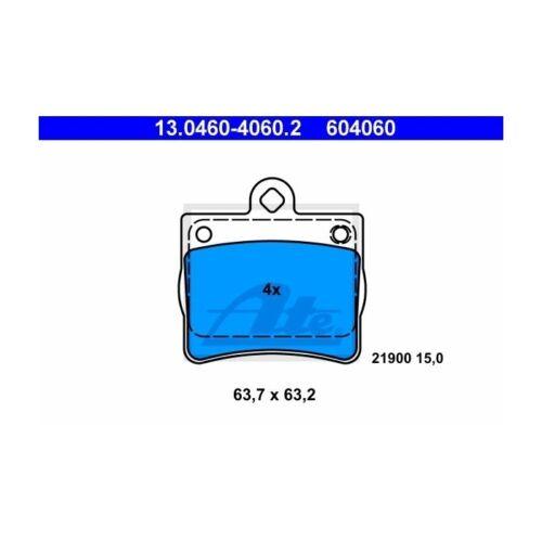 ATE 13.0460-4060.2 Bremsbelagsatz Scheibenbremse  Hinten für Mercedes-Benz