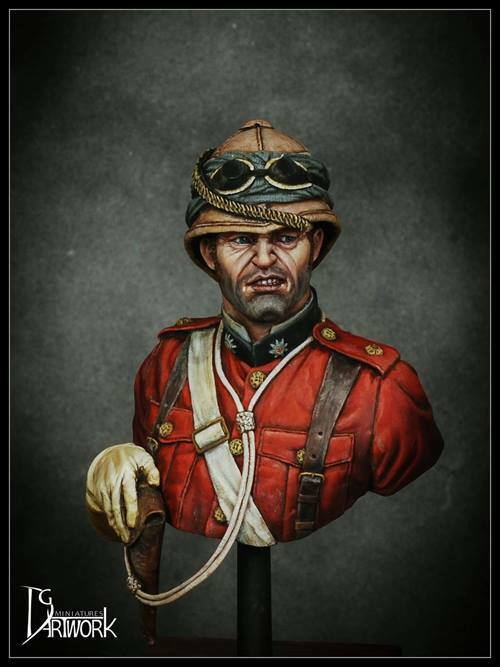 DG Artwork Coldstream Guards Officer 1882 Egypt 1 9th resin Bust Unpainted kit