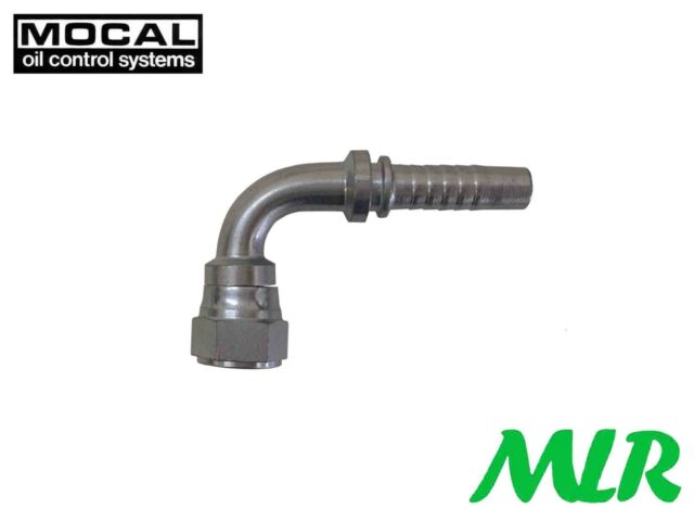 "MOCAL HEF97-6 90° -6JIC FUEL/OIL HOSE PIPE FITTING UNION FOR 3/8"" 10MM HOSE BBD"