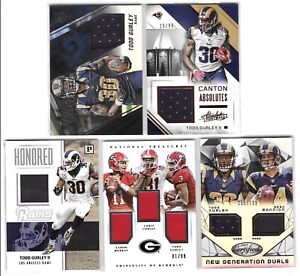 2015 Todd Gurley Rookie Jersey Lot W/ National Treasures /99 Certified /799 TI
