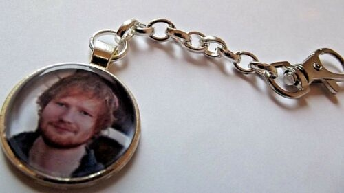 ED SHEERAN  PHOTO KEY RING STRONG CHAIN SILVER PLATED GIFT BOXED PARTY BIRTHDAY