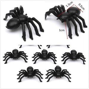 Black-Spider-Realistic-Halloween-Decoration-Halloween-Props-Animal-Black-50pcs