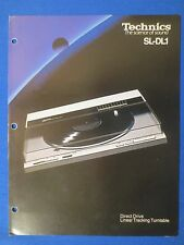 TECHNICS SL-D1 TURNTABLE SALES BROCHURE FACTORY ORIGINAL THE REAL THING