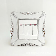 Modern Square Shape Switch Cover Plate Wall Light Surround Socket Stickers Decor