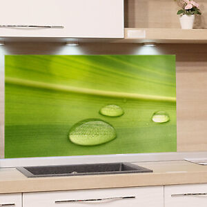 Küchenrückwand aus Glas 100x50cm ESG Spritzschutz Blumen Blätter Pflanzen