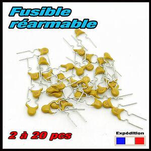 912.020# fusible réarmable 200mA (0,2A) déclenchement 0,4A
