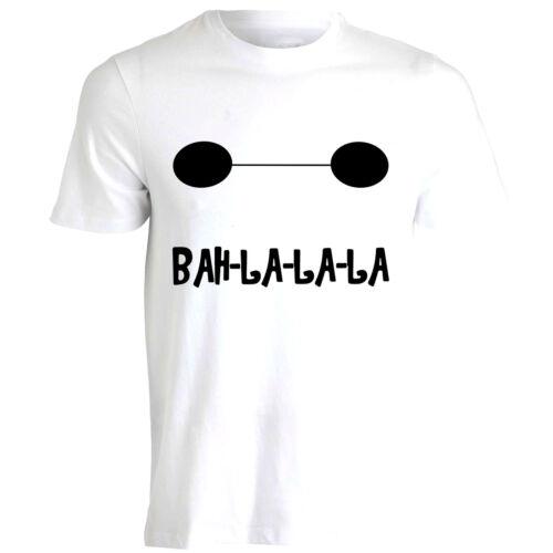BayMax Face BAH LA LA LA Big Hero 6 Hiro Tadashi Disney Mens Tshirt Tee Top AA38