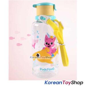 Pinkfong Water Bottle W Straw Shoulder Strip Baby Kids Bpa Free