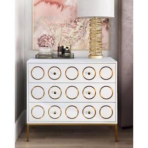 Image Is Loading New Anthropologie Replica Rondure Dresser Chest White Gloss