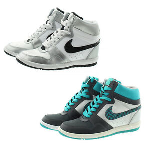 Wedge Details Top Shoes High About 629746 Force Basketball Sneakers Womens Nike Sky JlKcF1