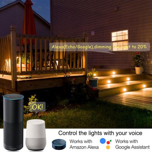 61mm WIFI Bluetooth APP LED Bodeneinbauleuchte Außenlampe Einbauspots Warmweiß