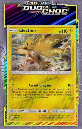 Electhor Reverse Carte Pokemon Neuve Française SL09:Duo De Choc 40//181