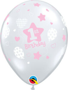 1st-BIRTHDAY-BALLOONS-10-x-11-034-SOFT-PATTERNS-PINK-1st-BIRTHDAY-PARTY-SUPPLIES