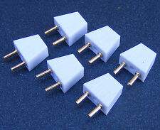 1.12 Scale Plugs 6 Pack Dolls House Miniatures Electrics Lighting