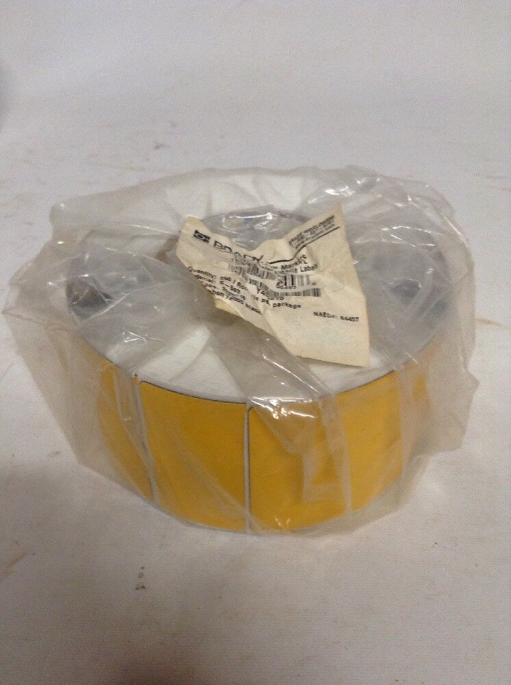 BRADY THTEP-178-593-.5YL, Yellow, Glossy Polyester, 3 In. W, 1 ROLL, 250 Labels