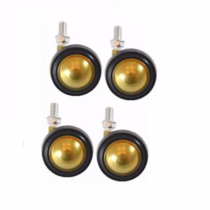 "Shepherd Brass Finish Soft Tread Swivel Ball Casters 3//8/"" x 5//8/"" Fine Threaded"
