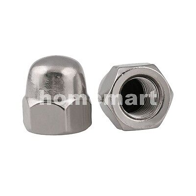 Stainless Steel 1 Piece Acorn 304 A2 SS Fasteners 10mm 30 x Dome Nut M10