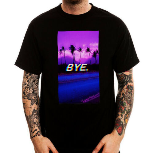 Vaporwave Bye Sad Miami Retro Aesthetic Trendy Men/'s Cotton T-shirt Top Tee