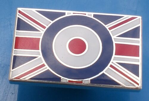White And Blue Enamel Pin Badge Mod Union Jack Rectangle Red