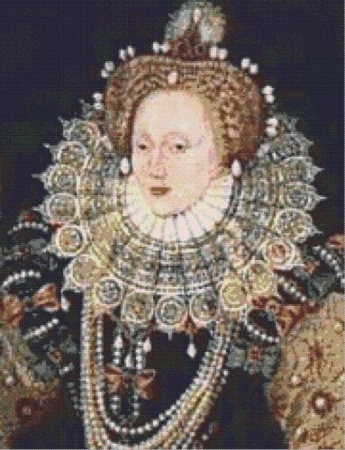 COUNTED CROSS STITCH CHART ELIZABETH 1st  # 2 TUDOR KINGS /& QUEENS