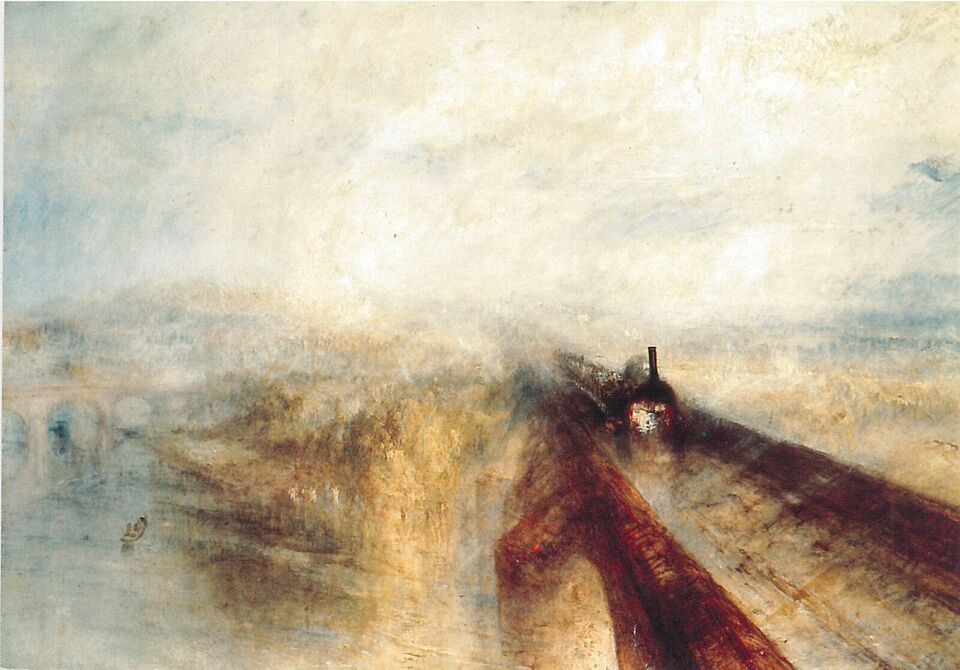 "Postkort, J.M.W Turner: ""The Great Western Railway"""