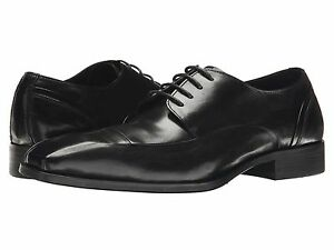 Uomo-Scarpe-Kenneth-Cole-Sur-Plus-in-Pelle-Oxfords-KMF5LE061-Nero