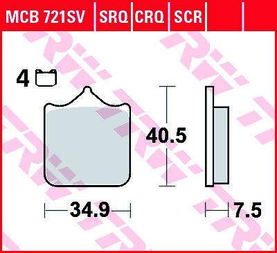 TRW Lucas Bremsbeläge Sinter MCB721SRQ