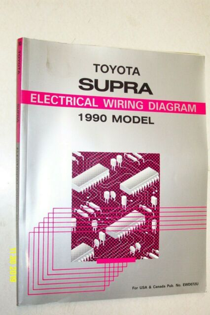 1990 Toyota Supra Electrical Wiring Diagram Manual