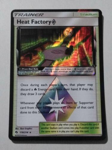 Pokemon TRAINER HEAT FACTORY 178//214 RARE PRISMA STAR MINT CARD  LOST THUNDER