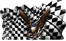 Win Flag Eagle Boat Car Truck Graphics Vinyl Stickers Racing Decals Wrap 45""