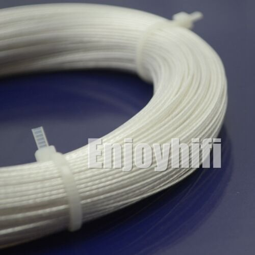 10m 0.20mm2 0.23 x7strands OCC Copper silver wire for audio AWG22 AWG24