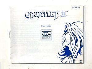 RARE! Gauntlet II ORIGINAL NINTENDO NES INSTRUCTION MANUAL BOOKLET BOOK ONLY
