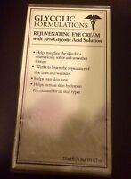 Glycolic Formulations Rejuvenating Eye Cream 10% Glycolic Acid Solutions