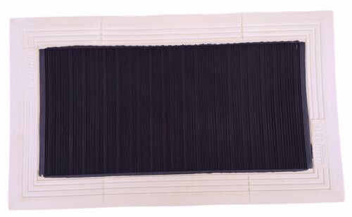 ACCLAIM Rejected VVV Bowls Delivery Mat Square Rib Back Black White Marked