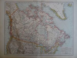 Ameria Canada Map Large Victorian Map 1896 of CANADA BRITISH NORTH AMERIA The Times