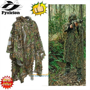 3D-Breathable-Jungle-Camo-Ghillie-SniperHunting-Poncho-Suit-Cloak-Manteau-Mesh