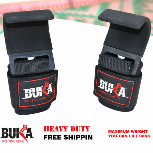 Weight Lifting Straps Power Training Gym Hook Grips Gloves Wrist Support Lift
